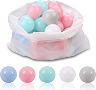 LANGXUN Ball Pit Balls for Kids - Plastic Toy Balls for Kids - Ideal Baby or Toddler Ball Pit, Ball Pit Play Tent, Baby Pool Water Toys , Kiddie Pool, Party Decoration, Photo Booth Props, 50 Balls
