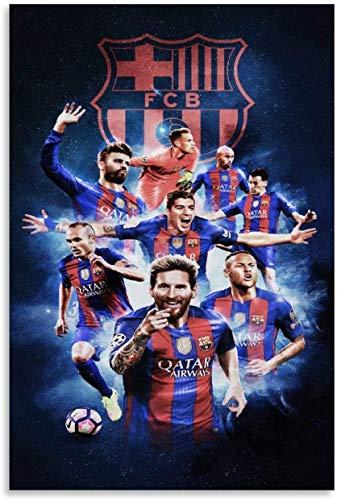 Stampe Quadri 60 * 90cm Senza Cornice Poster della Lega di Calcio Poster di Barcellona Poster Decorativo su Tela Wall Art Poster per Soggiorno Camera da Letto