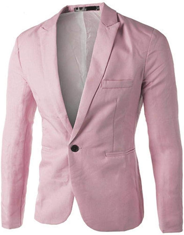 TWGONE Charm Men's Casual Slim Fit One Button Suit Blazer Coat Jacket Tops Men Fashion