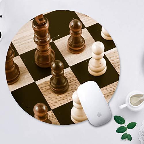 WINSHINE Alfombrilla de ratón Jugar Ronda de ajedrez Mousepad Alfombrillas de ratón para Ordenadores portátiles Antideslizante de Goma del Juego Alfombrilla de ratón 200 * 200 * 3 mm, Ajedrez