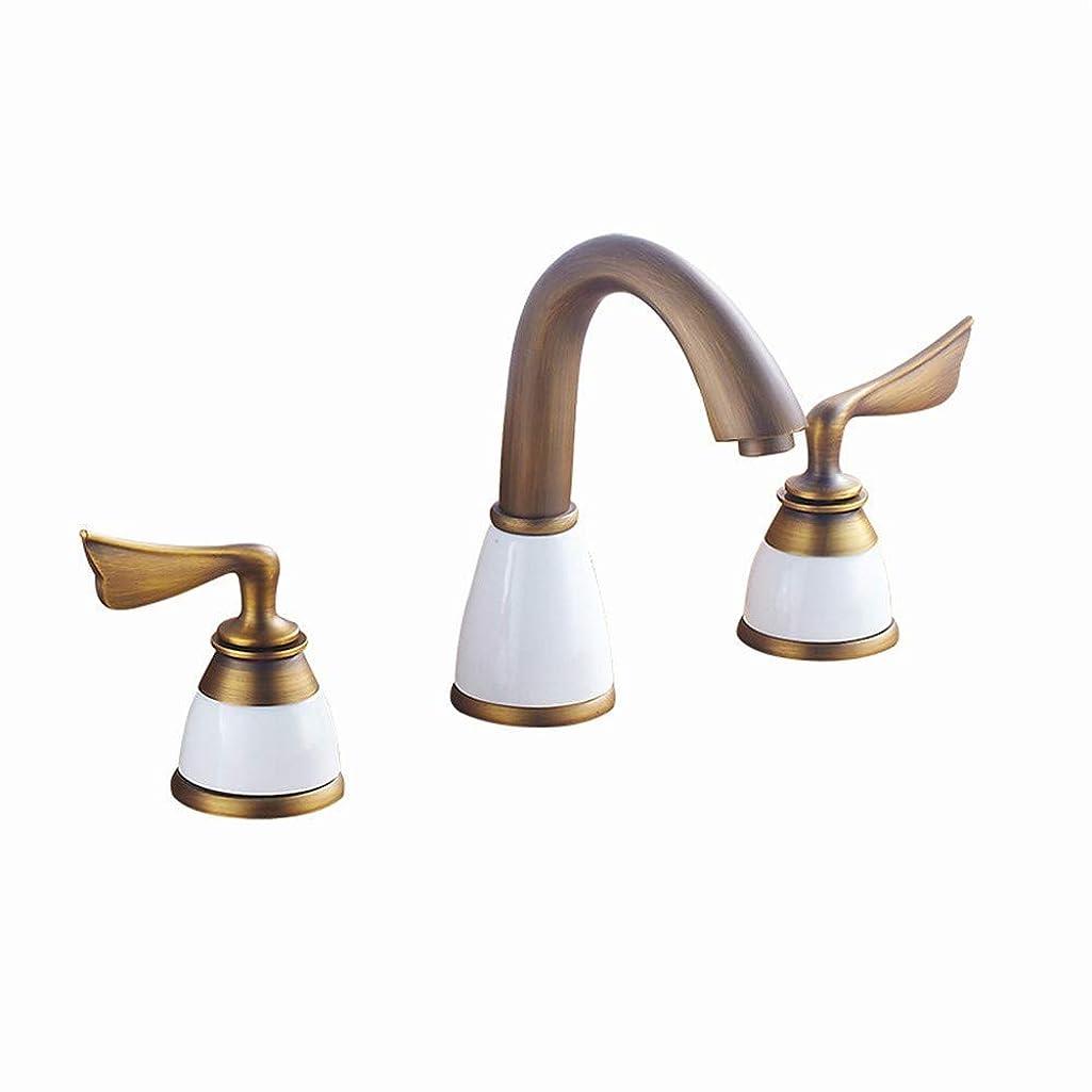 どうしたの艶シンカンバスルーム機器 / 分割3穴蛇口洗面台の蛇口ホットとコールドダブルオープン盆地の蛇口
