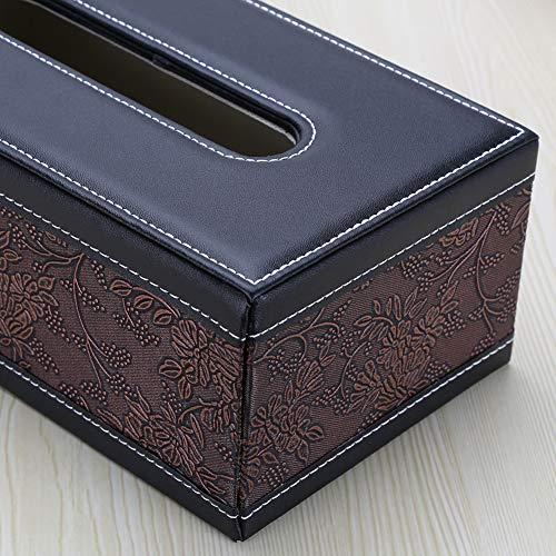 Kingfom rectangular piel sintética caja de pañuelos de papel Servilletero para...