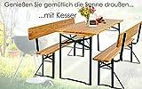 Bierzeltgarnitur mit lehne & breiter Tisch 3 teilig Gartenmöbel-Set - 9
