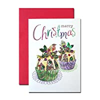 クリスマスカード 「スパンコール ノエル」 06 クリスマス プディング