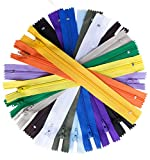 100pcs 14 Inch Nylon Coil Zippers Sewing Zippers for Sewing Crafts (Assorted Colors)