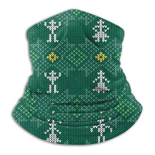 LREFON Pañuelo de Cuello de Textura Verde pasamontañas Calentador de Cuello para Hombres Mujeres protección contra el Polvo del Viento UV