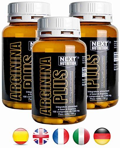 Arginina 1000 mg 3 confezioni da 100 compresse 130 gr 1000 mg per compressa   Amminoacido essenziale - incrementa la crescita muscolare e la forza   innalza i livelli di ossido nitrico   favorisce la sintesi delle proteine   Vigore sessuale   Arginina Next Nutrition   …