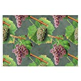 Alfombra de bienvenida vintage verde y morado con uvas en viñedos para puerta delantera, interior y exterior, de goma, antideslizante, resistente al agua, duradera, 39,7 x 59,9 cm