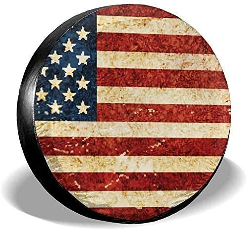 Lewiuzr La Cubierta Impermeable del neumático de Repuesto de la Bandera Americana de los EE. UU. Se Adapta al Ajuste Universal