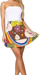 Bbhappiness Design Theme Summer Women's Shorts Skirt Sloth Lemon