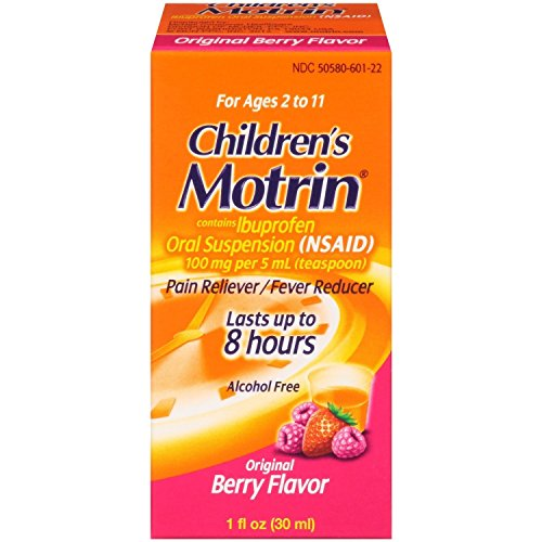 Motrin Children's Pain Reliever and Fever Reducer, Original Berry, 1 Fluid Ounce (Pack of 2)