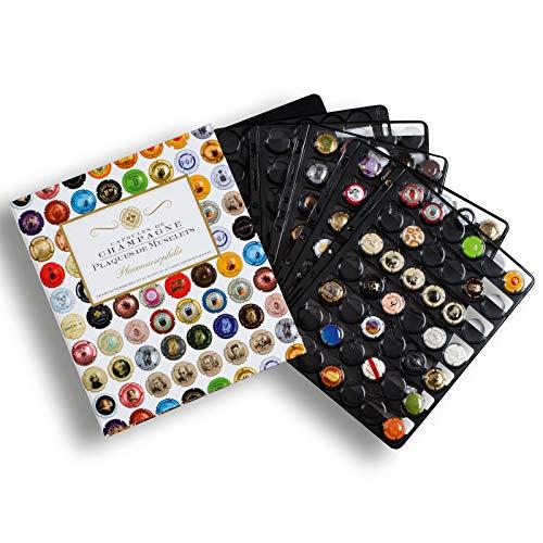 Champagne Album 5 pochettes noires pour 210 capsules de bouteilles de champagne Grand format