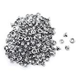 FoRapid 3mm/1/8' Silver Eyelets-Scrapbooking/Birthday Wedding Baby Greeting Holiday Card/Craft Projects/Custom Binding/Luggage Cruise Tag/DIY Album/Clothing etc-Work Great with Crop-A-Dile - 200 PCS