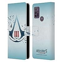 Head Case Designs オフィシャル ライセンス商品 Assassin's Creed ジオメトリック2 Iii ロゴ Motorola Moto G10 / Moto G30 専用レザーブックウォレット カバーケース