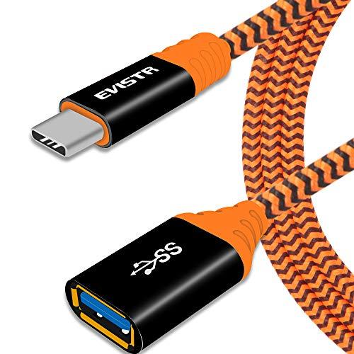 USB-C-auf-USB-Adapter, EVISTR Typ C auf USB 3.0, OTG-Adapterkabel für unterwegs, kompatibel mit MacBook Pro, Dell XPS, Samsung S20 S10 S9 S8, Nintendo Switch, weitere Typ-C-Geräte