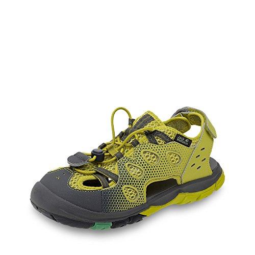 Jack Wolfskin 4022491-4240 Ticicaca Burschen Low Sandale Schnellschnürung, Groesse 35, gelb