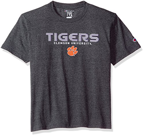 Champion NCAA Youth Boy's Granite Short Sleeve Jersey Shirt Clemson Tigers X-Large