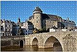 1000 pièces-la rivière Mayenne à Laval en France puzzle en bois bricolage enfants puzzles éducatifs adulte décompression cadeau jeux créatifs jouets puzzles