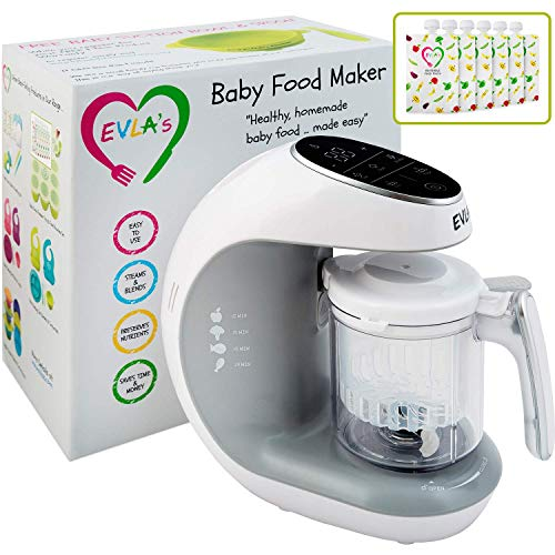Baby Food Maker | Baby Food Processor Blender Grinder Steamer | Cooks & Blends Healthy Homemade Baby Food in Minutes | Self Cleans | Touch Screen...