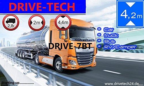 7-calowe urządzenie nawigacyjne GPS system nawigacji DRIVE-7BT do ciężarówek, samochodów osobowych, autobusów, kamperów i kamperów. Ostrzeżenie radarów, bezpłatna aktualizacja, w zestawie BT, AV-IN (wejście do kamery cofania lub innych urządzeń AV)