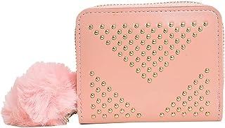 Women's PU Leather Mini Short Card Holder Small Wallet Clutch Mini Purse Fashion Multifunctional Coin Wallet (Cream Flower)
