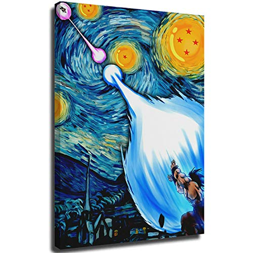 STTYE Starry Night by Vincent Van Gogh Art Abstract Dragonball Z Starry Night abstract poster 20