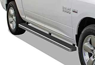 APS iBoard Running Boards 4 inches Custom Fit 2009-2018 Ram 1500 Crew Cab Pickup 4Dr & 2010-2019 Ram 2500 3500 (Nerf Bars Side Steps Side Bars)