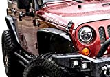 KBD Body Kits Compatible with Jeep Wrangler 2007-2018 4 Pc Front & Rear Polyurethane Fender Flares Kit. Extremely Durable, Easy Installation, Guaranteed Fitment, Made in The USA!