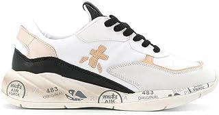 Luxury Fashion   Premiata Women SCARLETT4527 White Leather Sneakers   Spring-summer 20