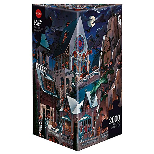 Heye- Castle of Horror Puzzle, Multicolor (HEYE-26127)