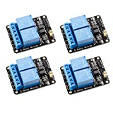Qunqi 4pcs 5V 2 Channel 5V Relay Module with Optocoupler Low Level Trigger Expansion Board Compatible with R3 MEGA 2560 1280 DSP ARM PIC AVR STM32 Raspberry Pi