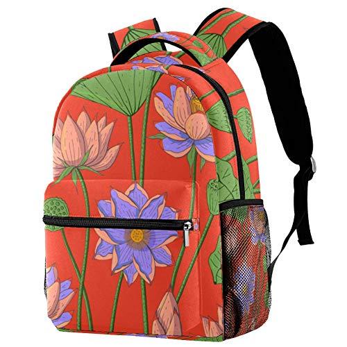 Mochila escolar con patrón de lagartos, mochila para libros, mochila informal para viajes, estampado 3 (Multicolor) - bbackpacks004