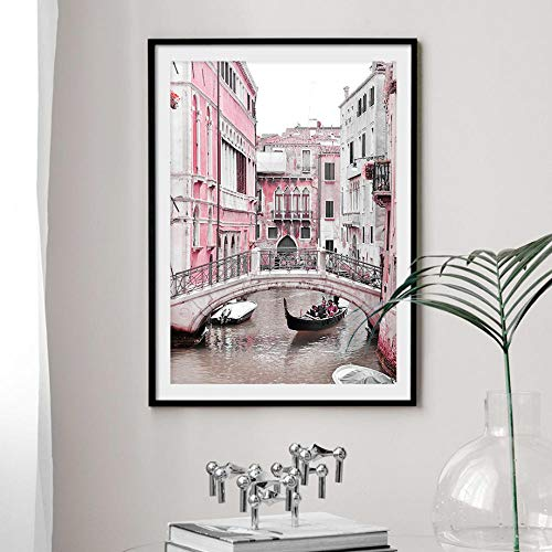 Xykshiyy Italy Pisa Tower Rome Colosseum Street Wall Art Canvas Painting Nordic Posters and Prints Wall Pictures for Living Room Decor(60x80cm no Frame)