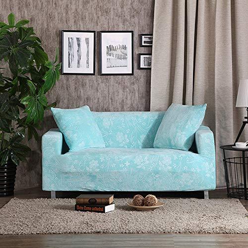 KTUCN Fundas de sofá, Fundas de sofá Gruesas de Jacquard Fundas de sofá elásticas universales Fundas de sofá seccionales Felpa cálida 1/2/3/4 plazas, Azul Claro, 1 Seater