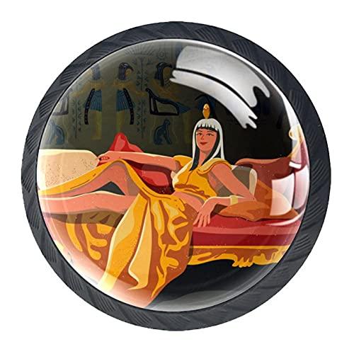 Tirador para cajón de 35 mm, cristal Cleopatra sentado en su trono...