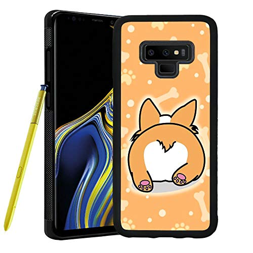 Samsung Galaxy Note 9 Phone Case Cute Corgi Butt Pattern Hard Shell Tire Soft Edge TPU+PC Black Material Samsung Galaxy Note 9 Case