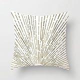 PPMP Funda de Almohada de Tiro Abstracto Moderno línea Redonda geométrica Puesta de Sol cojín de sofá en casa Funda Decorativa Funda de Almohada Funda de cojín A15 45x45cm 2pc