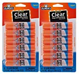 Elmer's Clear Glue Stick - 6 Count (2 Pack)