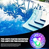 Luz LED subacuática, iluminación LED impermeable para piscinas, funciona con pilas para piscina, estanque, bañera, fuente, fiesta de acuario