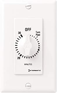 Intermatic FD30MWC 30-Minute Countdown Wall Timer for Fans and Lights, White