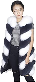 Women's Faux Fur Long Peacoat Oversized Vest Sleeveless Casual Chunky Overcoat for Work Daily