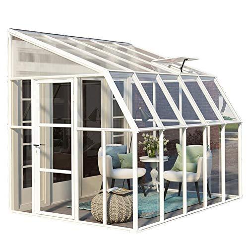 """RION Kunststoff Anlehngewächshaus / Wintergarten """"Sun Room 45"""" (322 x 258 x 266cm (TxBxH) + Dachfenster"""