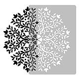 Wiederverwendbare Wandschablone aus Kunststoff // Durchmesser 59cm // GEOMETRISCH - MANDALA #2 - BLUME // Muster Schablone Vorlage