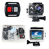Action Camera YaeCCC 4K WiFi Waterproof Sports Action Camera HD 12MP Action Camcorder 2-inch LCD Screen, 2 Rechargeable Li-ion Batteries 19pcs Accessories (Black)