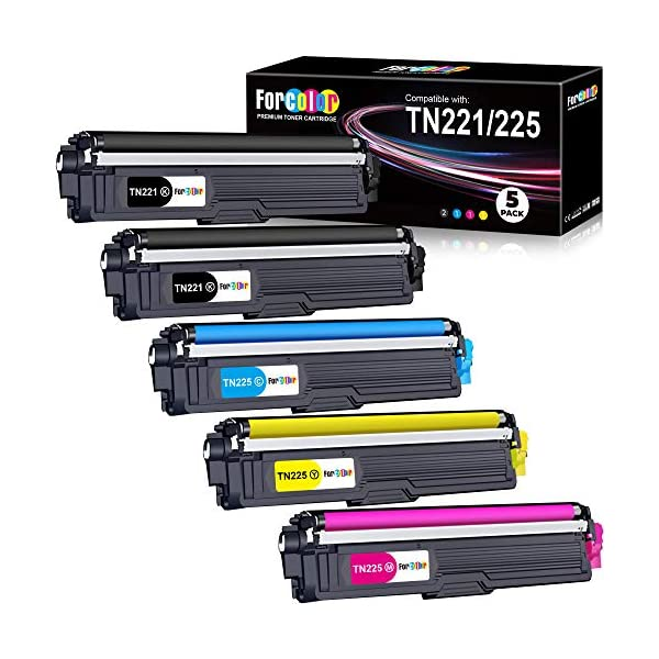 Forcolor Compatible Toner Cartridge Replacement for Brother TN221 TN225 TN-221 TN-225...