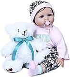 WBDZ Reborn Baby Dolls realistas 22 Pulgadas 55cm My Little Sweetheart Reborn Baby Girl Doll Tamaño Real del bebé Cuerpo ponderado Suave Mano Cabello enraizado Muñecas recién Nacidas Se Ven realistas