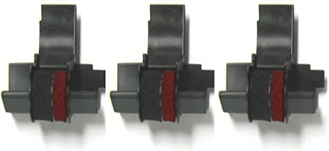 3 Pack - Compatible IR-40T Black/Red Ink Rollers, Works for Sharp EL1801P, Sharp EL1801PIII, Sharp EL2192, Sharp EL2620