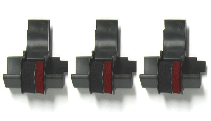 3 x COMPUMATIC Compatible/Replacement for IR-40T EA772R Black/Red Ink Rollers, Works for SHARP EL-1750V, EL-1801V, EL1801P, EL1801PIII, EL2192, EL2620, and more