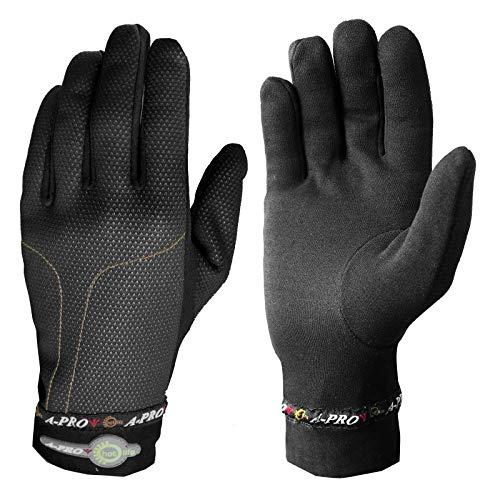 A-Pro Thermo-handschoenen voor de winter, winddicht, voor motorfiets, scooter, custom snowboard, zwart XXL zwart.
