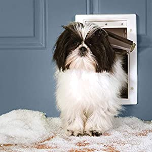 PetSafe Extreme Weather Pet Door for Cats and Dogs – 3-Flaps for Added Insulation – Small Pets